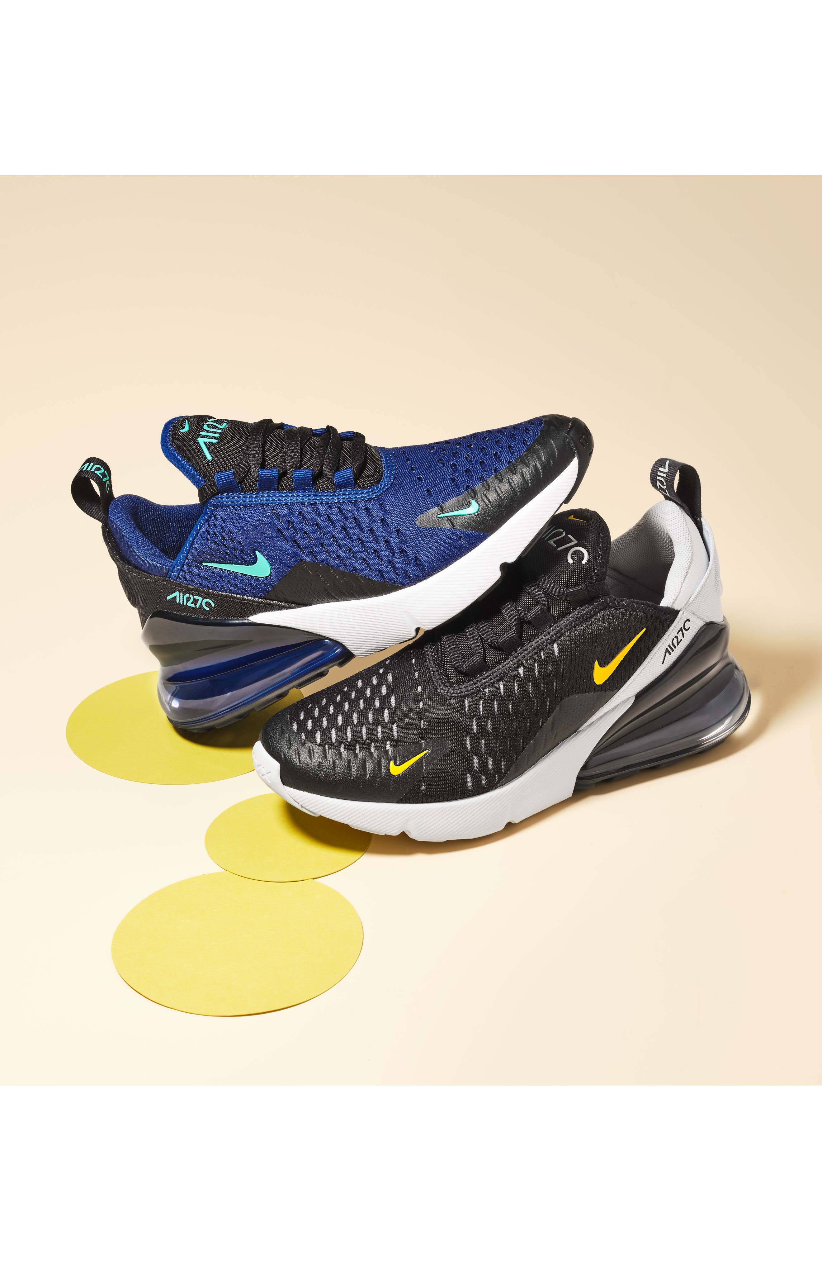 ,                             Air Max 270 Sneaker,                             Alternate thumbnail 7, color,                             WHITE/ VOLT-BLACK-FUCHSIA