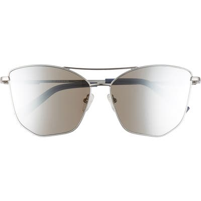 Le Specs Primeval 61mm Special Fit Gradient Aviator Sunglasses - Silver/ Silver