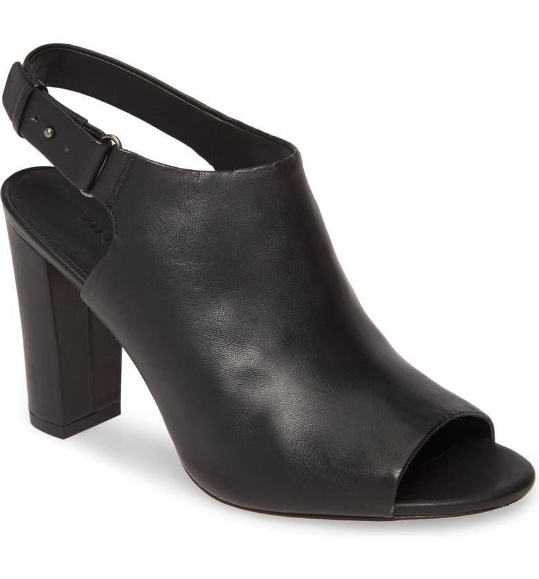 VINCE Hartley Slingback Sandal, Main, color, BLACK LEATHER