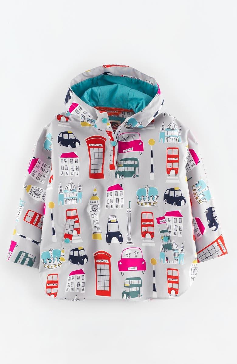 Mini Boden Waterproof Hooded Poncho (Toddler Girls, Little Girls