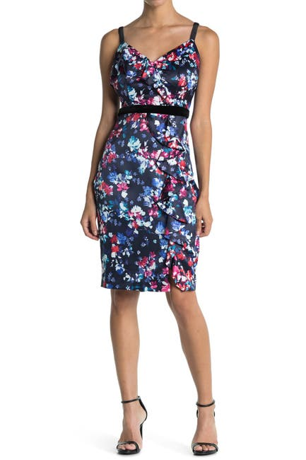 Image of GUESS Floral Print Slip Dress