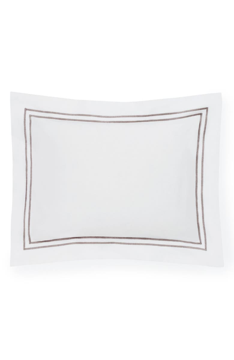 SFERRA Grande Hotel Boudoir Sham, Main, color, WHITE/ GREY