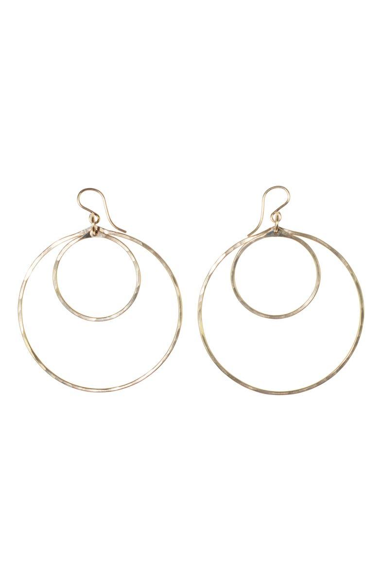 NASHELLE Double Hoop Earrings, Main, color, GOLD