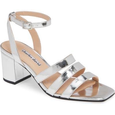Charles David Crispin Ankle Strap Sandal, Metallic