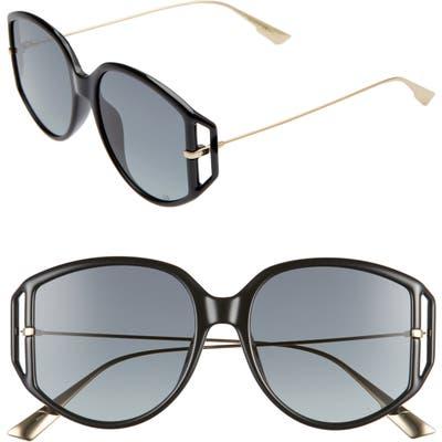 Dior Directio2S 5m Oversize Sunglasses - Black/ Grey