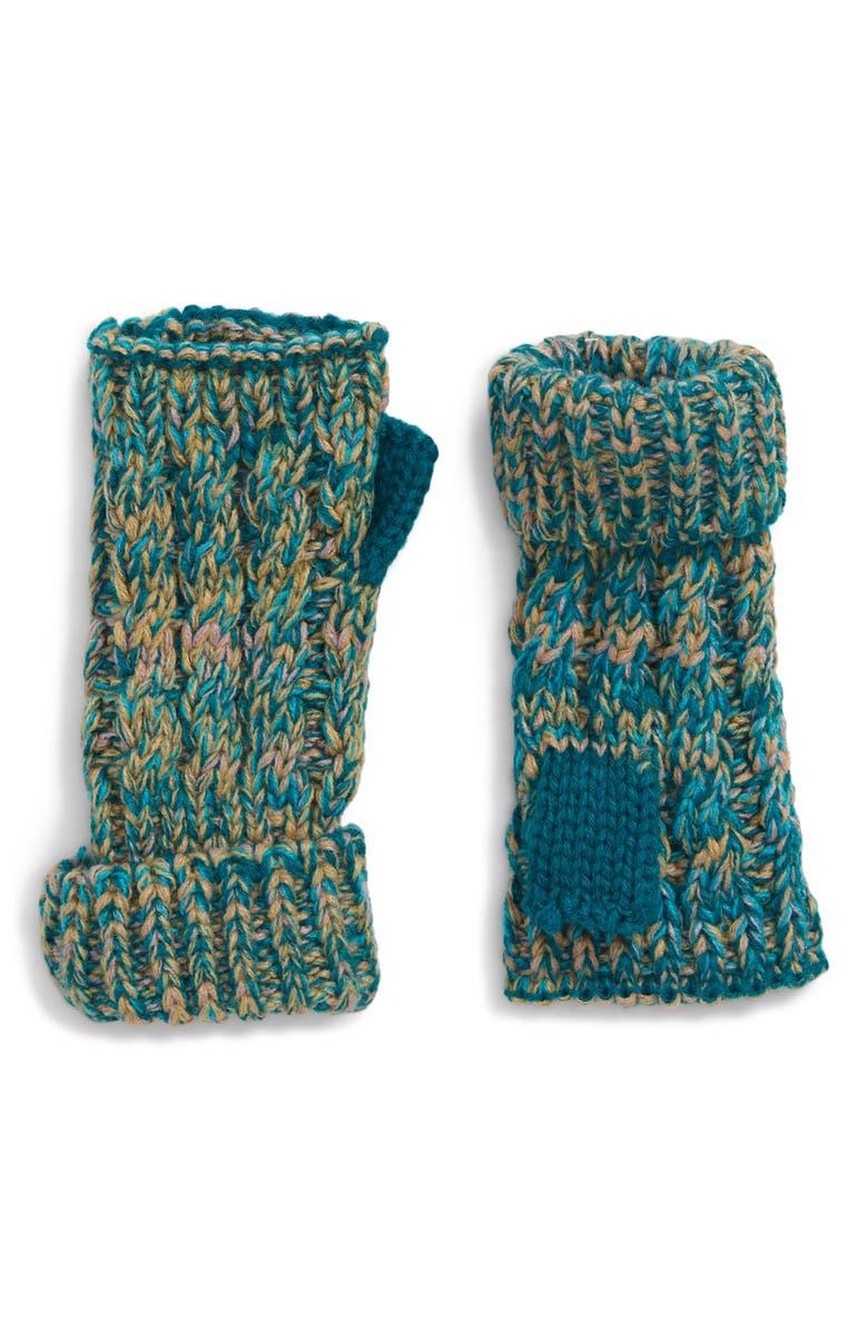 TREASURE & BOND Fingerless Gloves, Main, color, BLUE LIGHT COMBO
