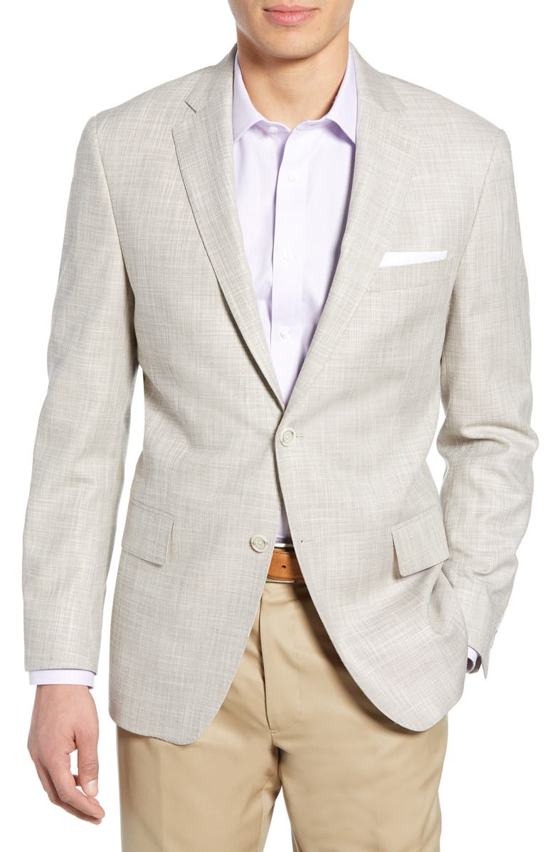 HART SCHAFFNER MARX New York Classic Fit Stretch Solid Sport Coat, Main, color, 274
