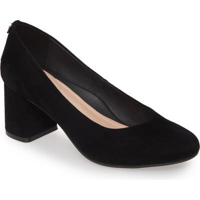 Taryn Rose Ricki Block Heel Pump- Black