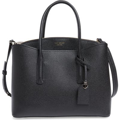 Kate Spade New York Large Margaux Leather Satchel - Black