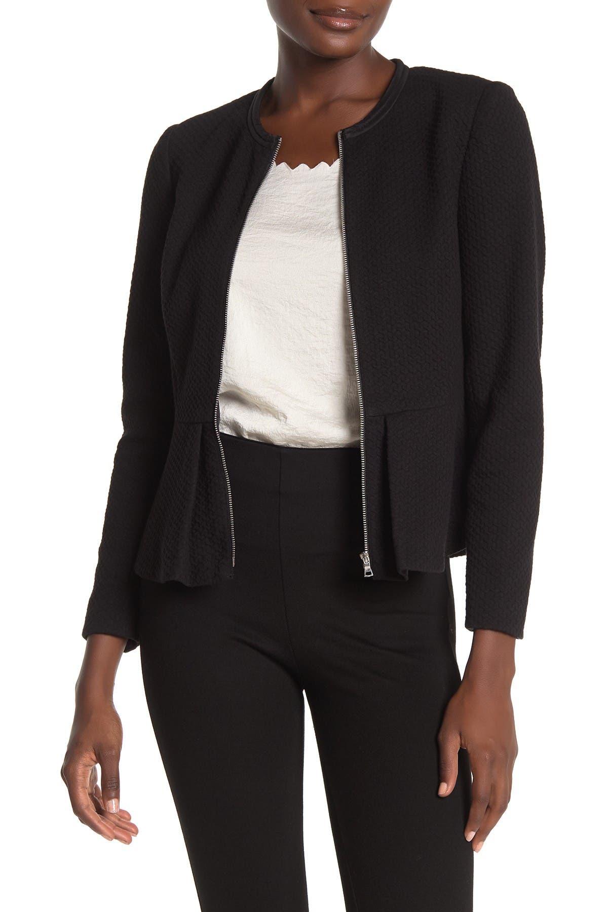 Image of Rebecca Taylor Textured Peplum Jacket
