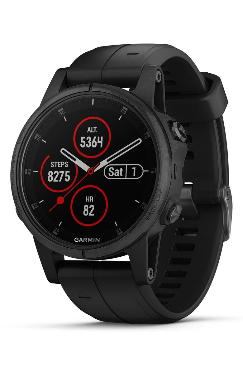 GARMIN fenix<sup>®</sup> 5S Plus Sapphire Premium Multisport GPS Watch, 42mm, Main, color, BLACK