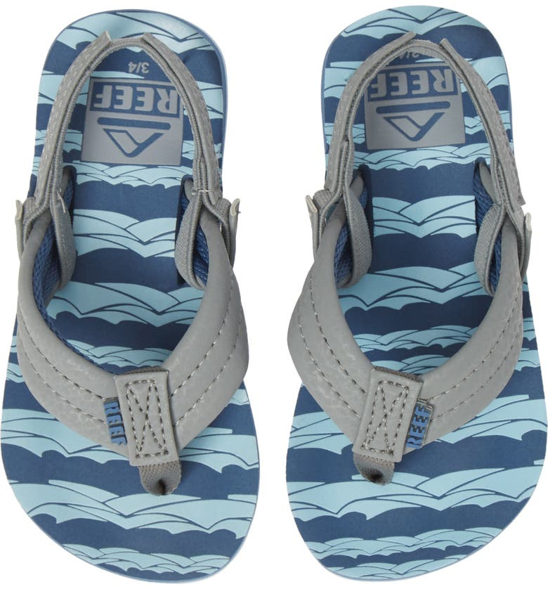 REEF Ahi Flip Flop, Main, color, BLUE GREY OCEAN