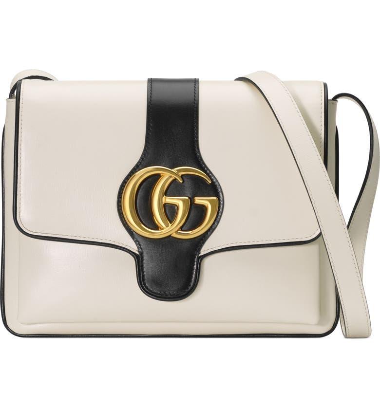 99f9d09ba Medium Arli Leather Shoulder Bag, Main, color, MYSTIC WHITE/ NERO