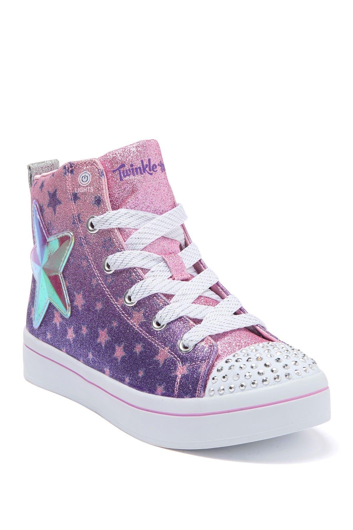 Image of Skechers Twi-Lites Starry Gem High Top Sneaker
