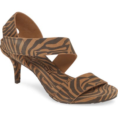 Pedro Garcia West Tiger Print Sandal - Brown