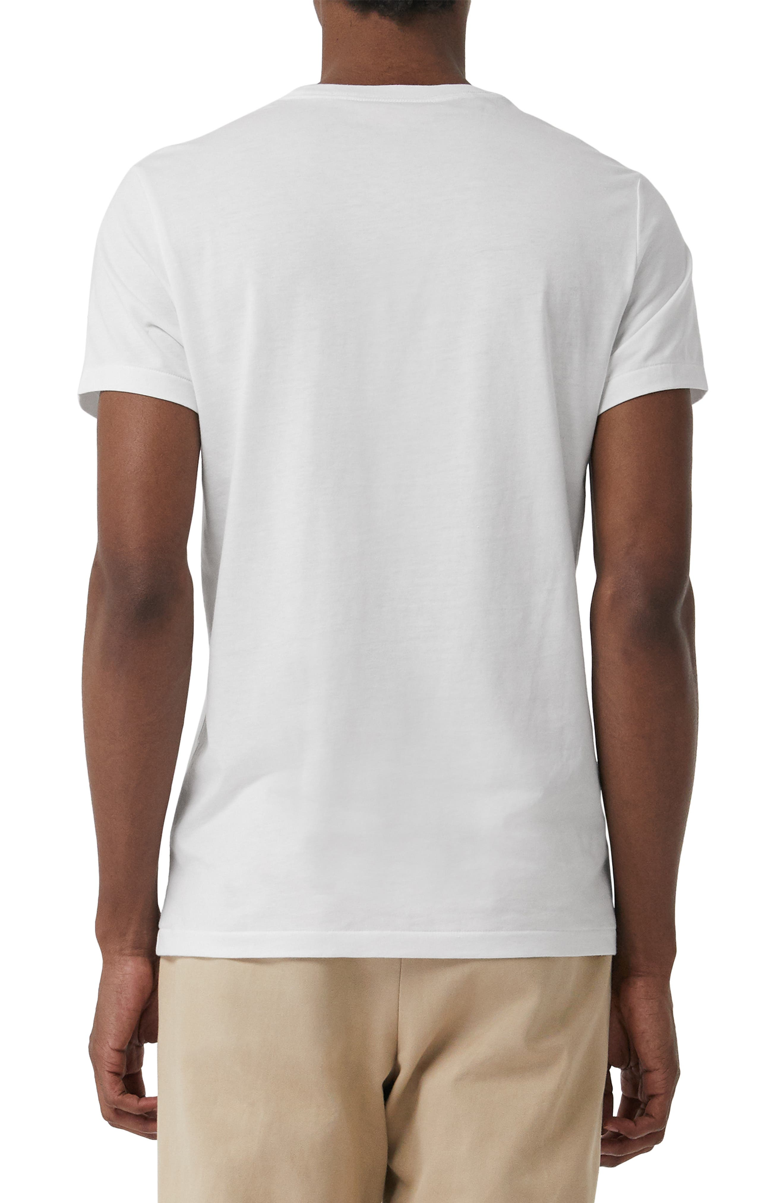 ,                             Logo Embroidered Crewneck T-shirt,                             Alternate thumbnail 2, color,                             TRUE WHITE