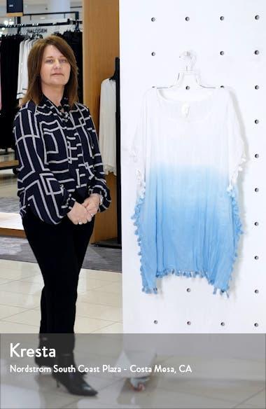 Dip Dye Tassel Cotton Cover-Up Caftan, sales video thumbnail