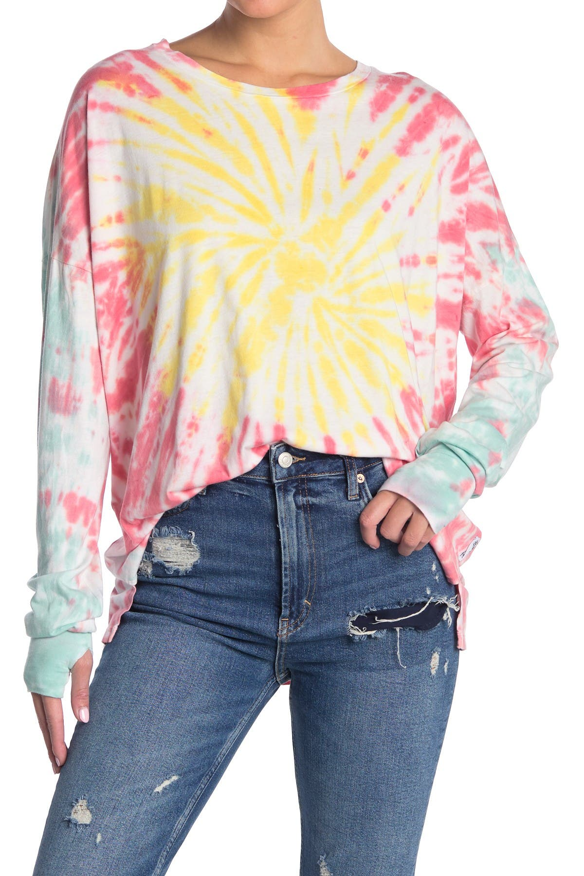 Image of The Laundry Room Lovely Tie Dye Print Sleep Shirt