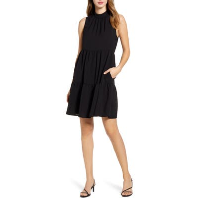 Gibson X The Motherchic Lakeshore Tiered Dress, Black