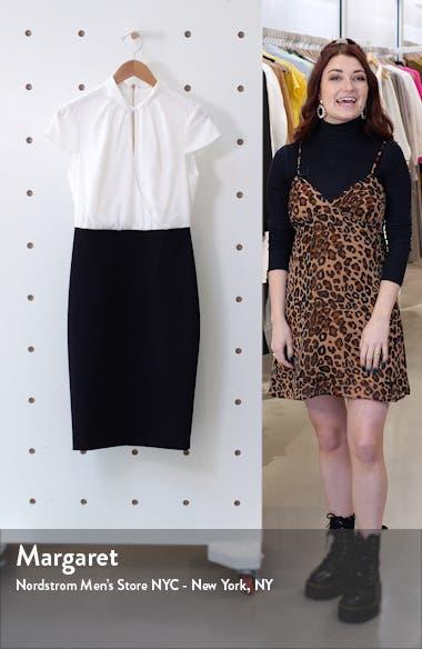 Daylla Two-Tone Mock Neck Pencil Dress, sales video thumbnail