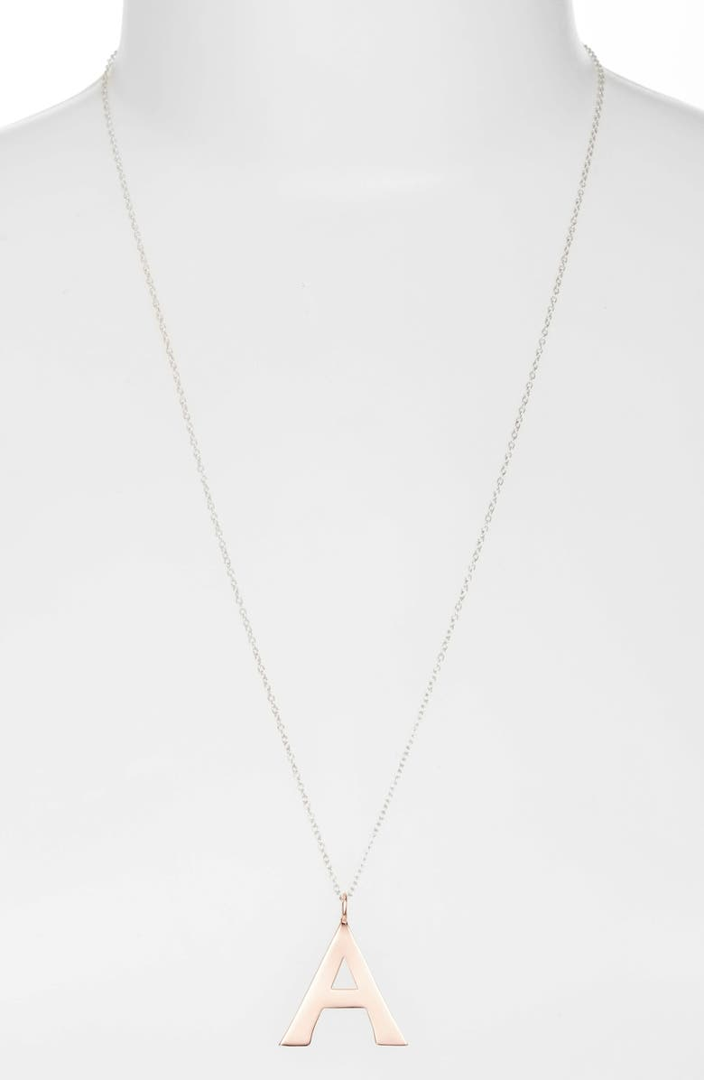 ARGENTO VIVO Initial Pendant Necklace, Main, color, 650