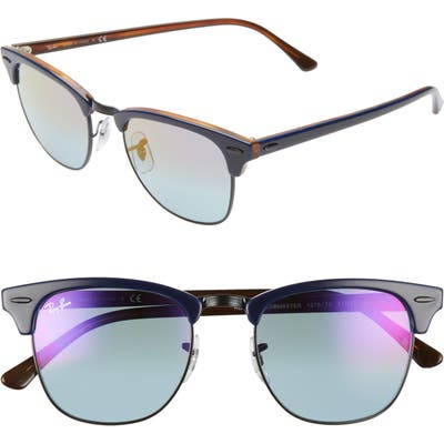 Ray-Ban Clubmaster 51mm Sunglasses - Blue/ Red/ Blue Mirror