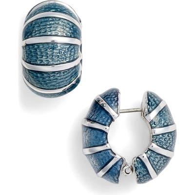 Erwin Pearl Blue Segmented Pier Earrings
