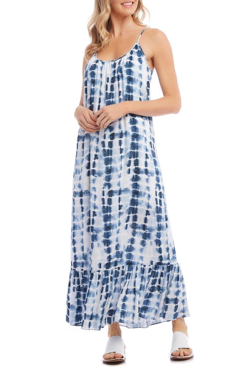 KAREN KANE Ruffle Hem Maxi Dress, Main, color, 400