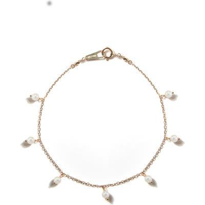 Mizuki Sea Of Beauty White Akoya Pearl Station Bracelet