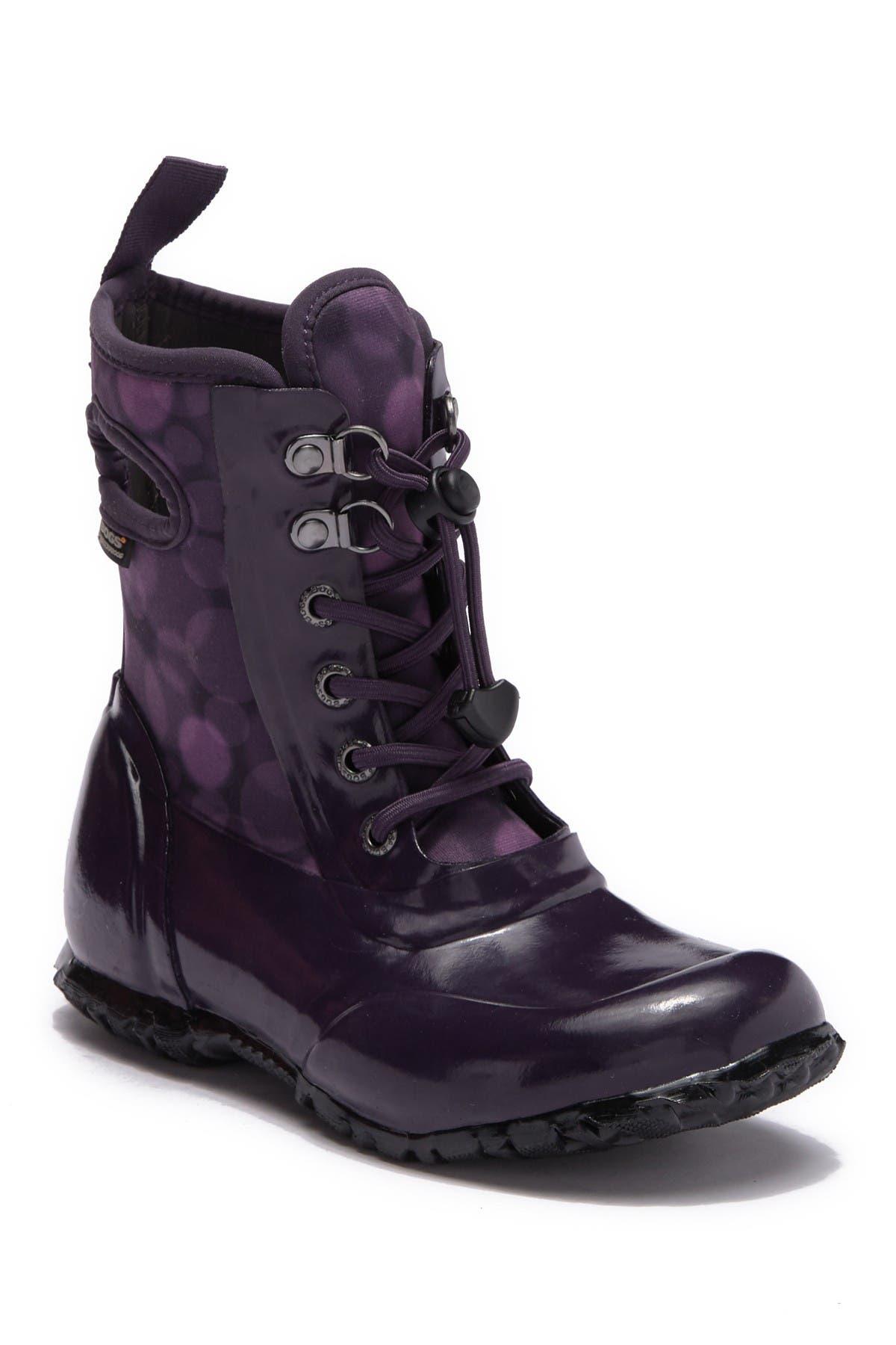 bogs lace up rain boots