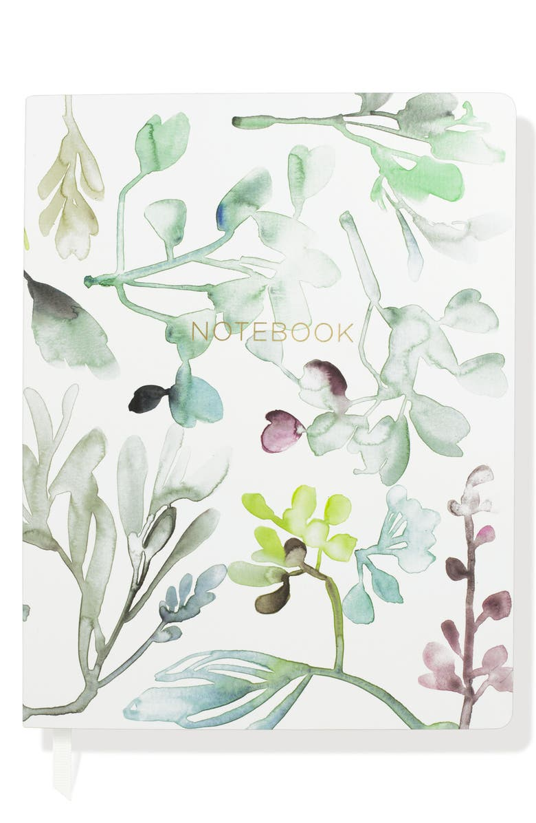 FRINGE STUDIO Watercolor Leaves Journal, Main, color, 400