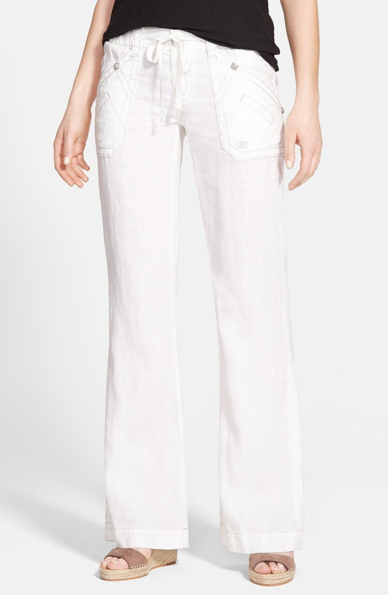 most desirable fashion choose original quality Miss Me Metallic Stitch Wide Leg Linen Pants | Nordstrom