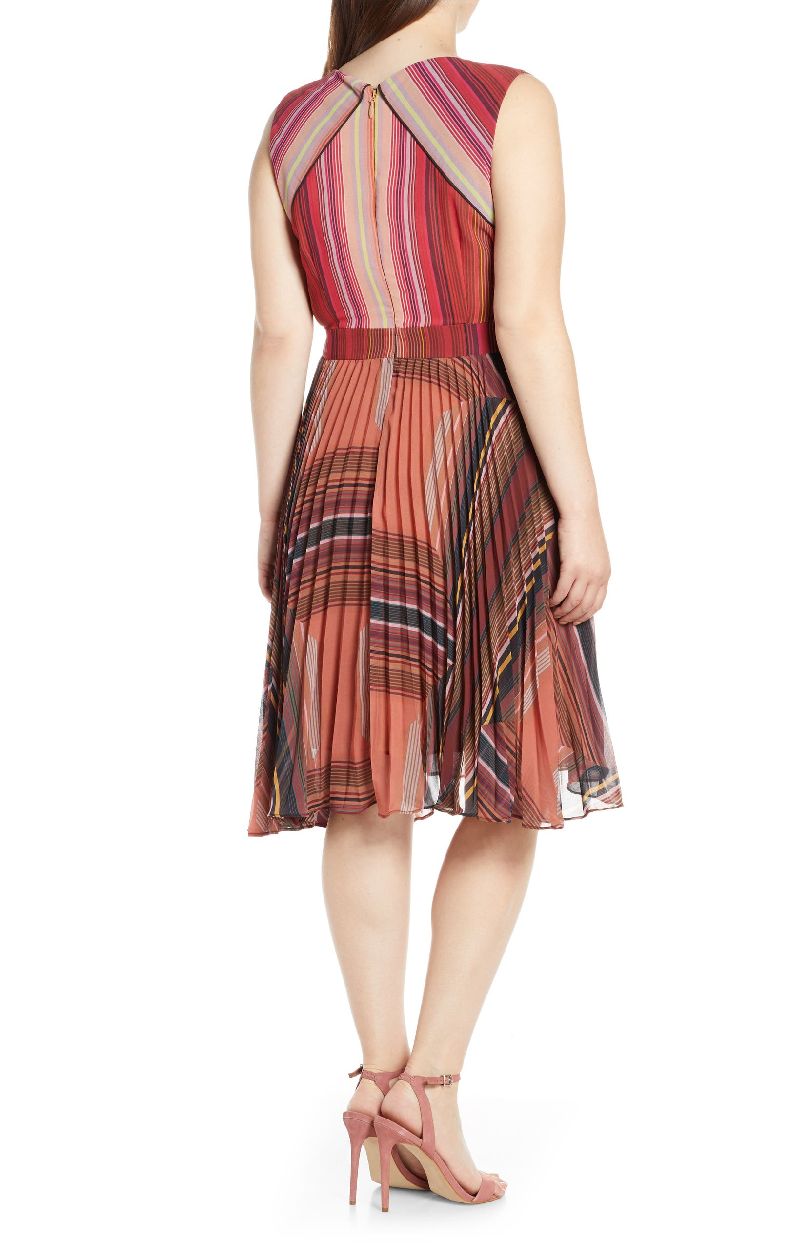f4057de1ca77e Pleated Chiffon Faux Wrap Cocktail Dress