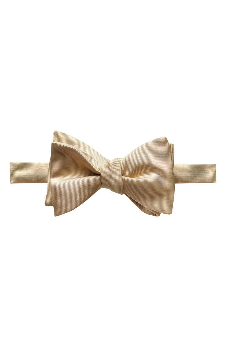 ETON Solid Silk Bow Tie, Main, color, BROWN