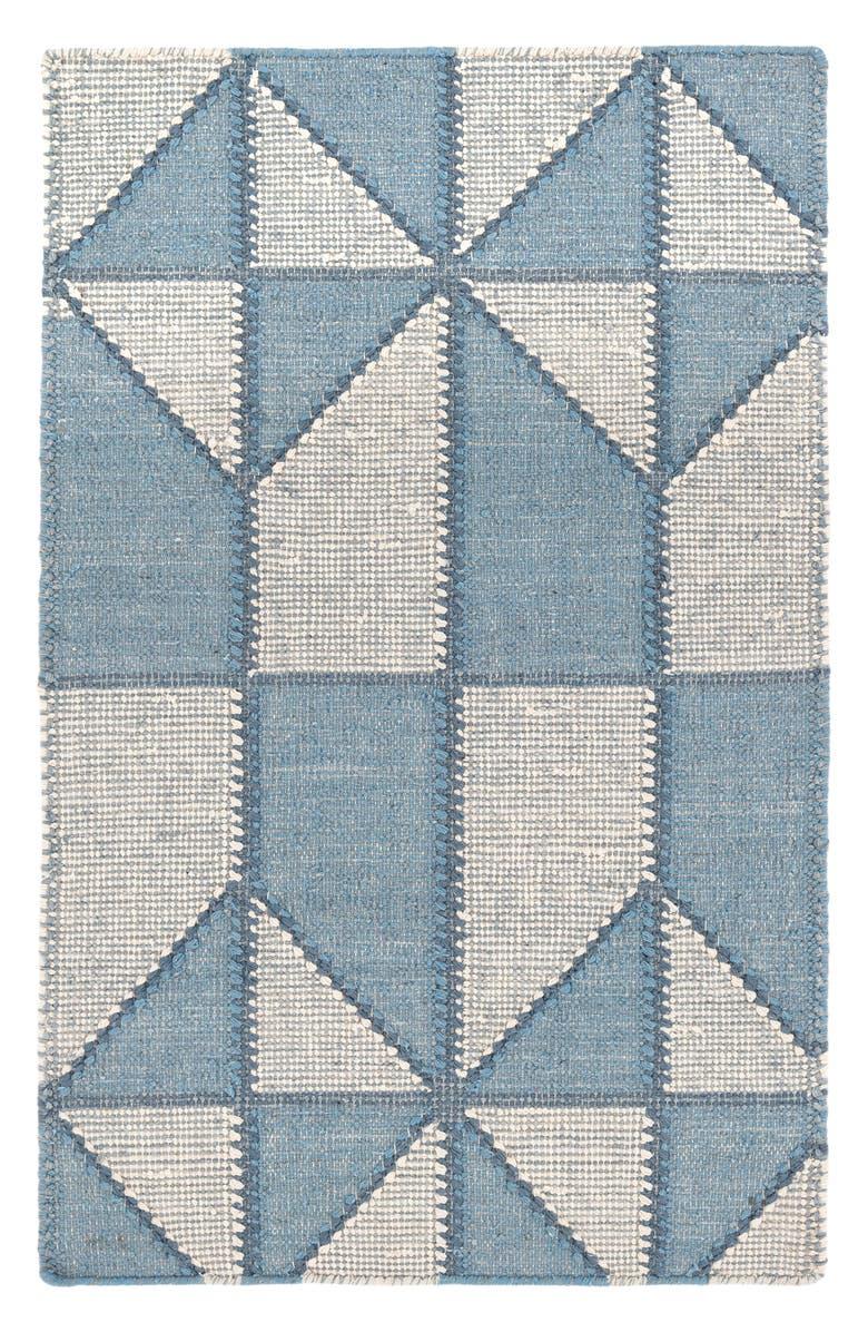 DASH & ALBERT Ojai Handwoven Cotton Blend Rug, Main, color, BLUE