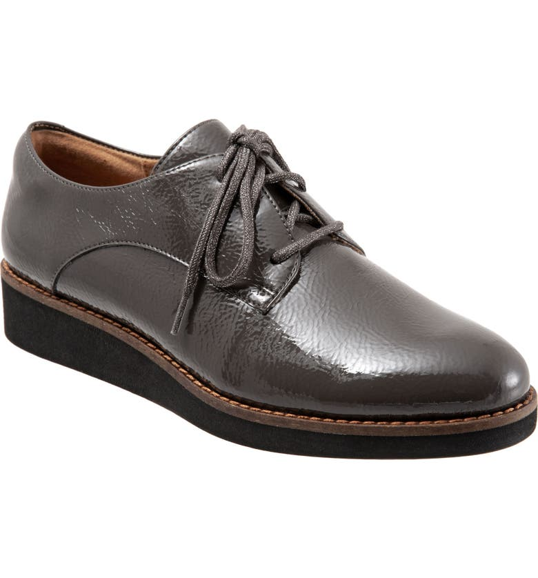 SOFTWALK<SUP>®</SUP> Willis Derby, Main, color, DARK GREY LEATHER