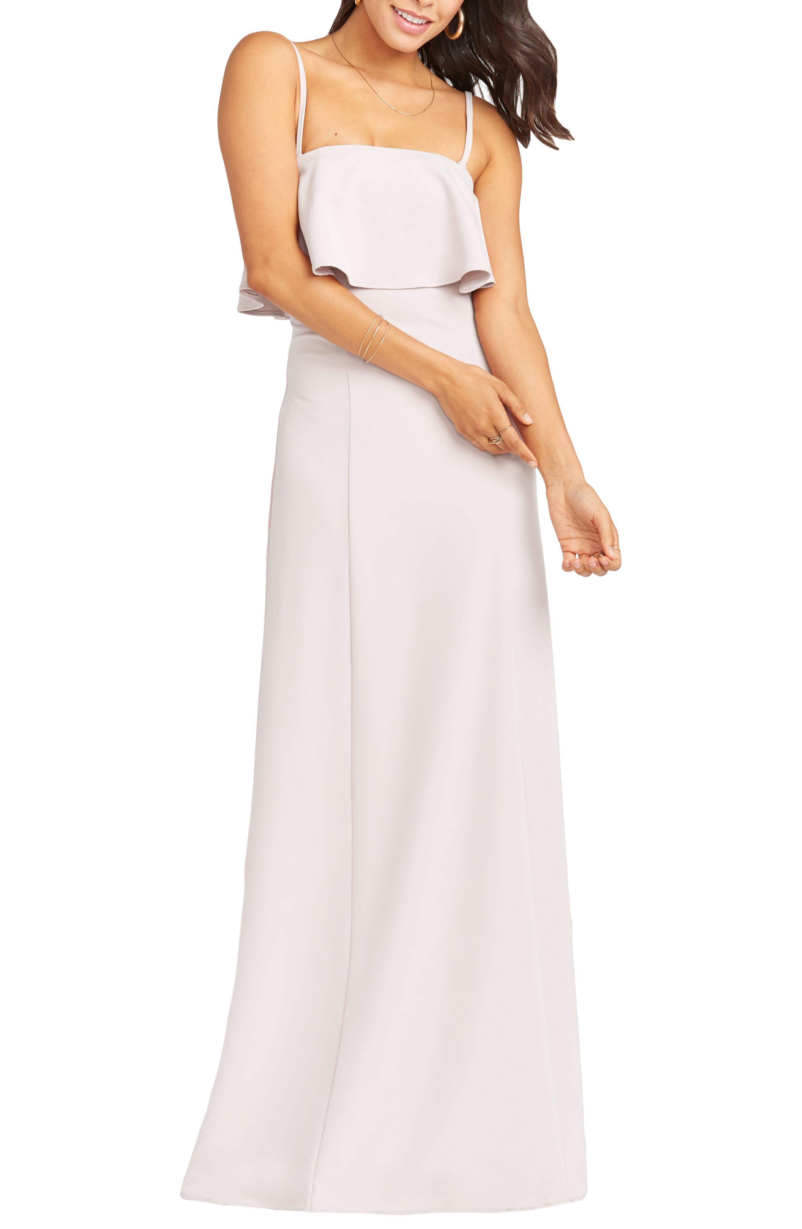 Show Me Your Mumu Monaco Strapless Ruffle Bodice Evening Gown, Pink
