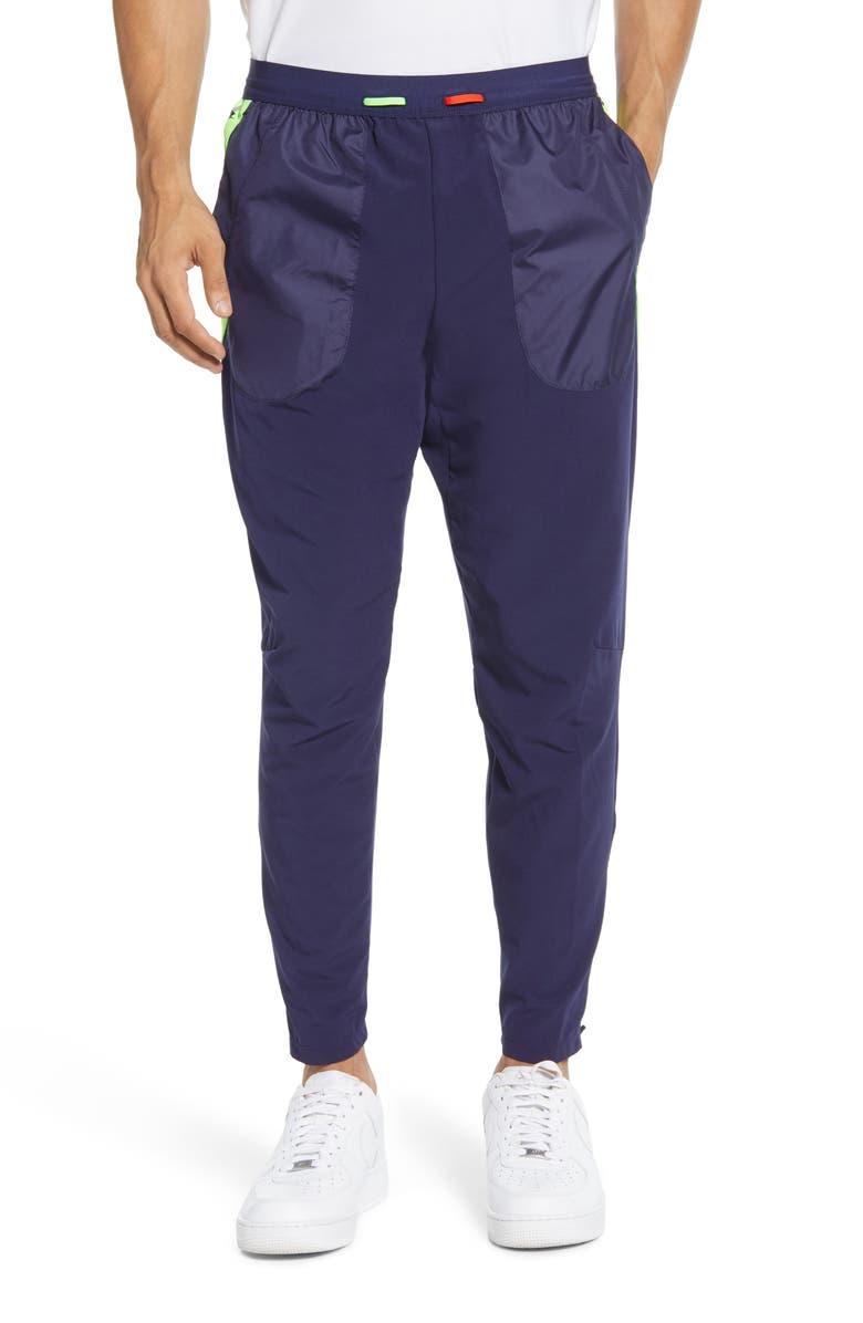 NIKE Dri-FIT Wild Run Phenom 2 Pants, Main, color, BLACKENED BLUE/ HABANERO RED