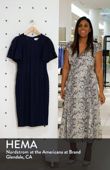 Flutter Sleeve Lace Sheath Dress, sales video thumbnail