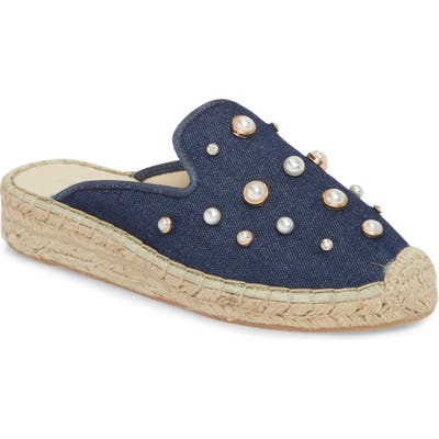 Patricia Green Embellished Espadrille Loafer Mule, Blue