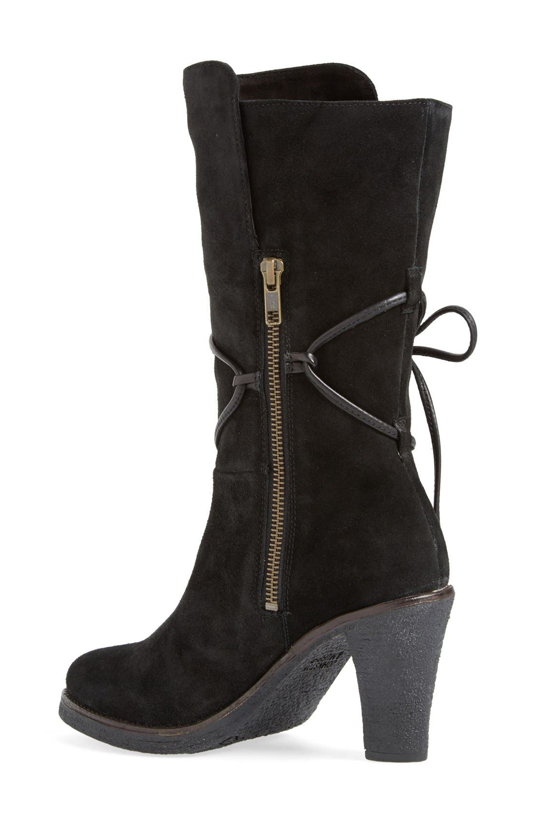 ,                             'Jeanie' Mid Calf Boot,                             Alternate thumbnail 4, color,                             008