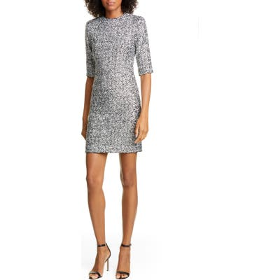Alice + Olivia Inka Sequin Mock Neck Dress, Metallic