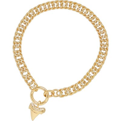 Ettika Shark Tooth Charm Collar Necklace