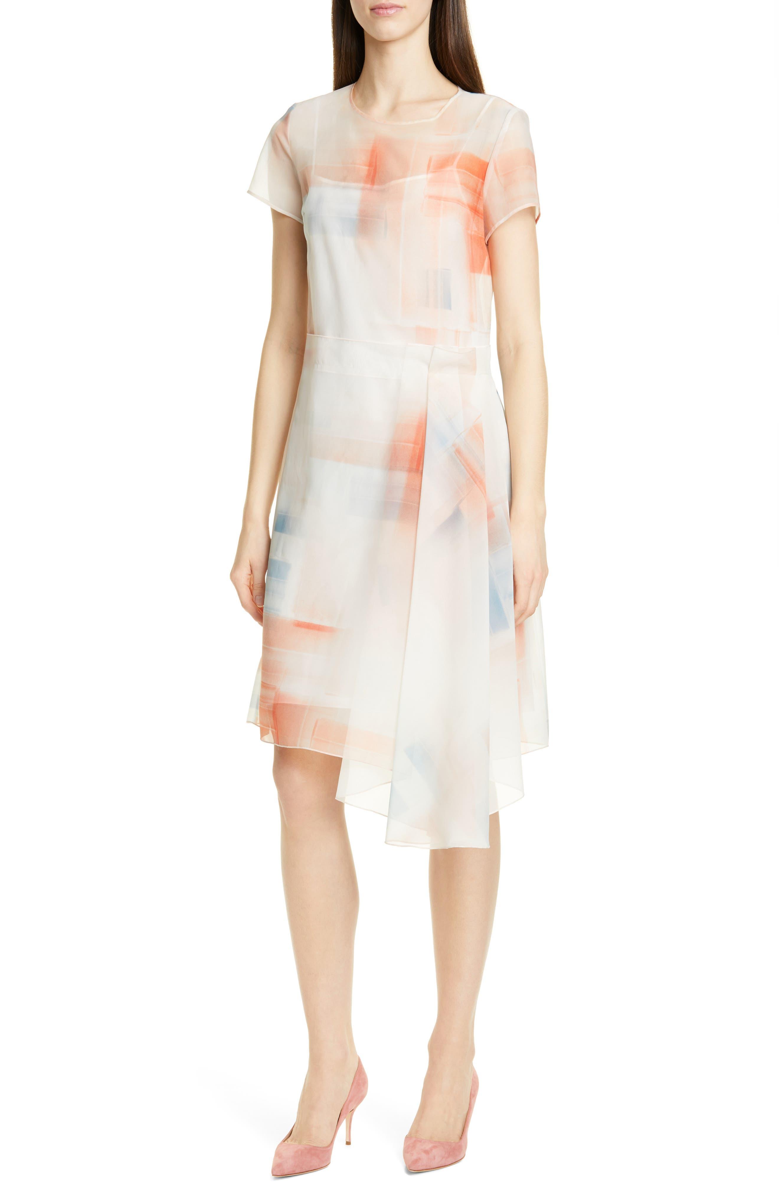 Boss Difuna Asymmetrical Party Dress, White