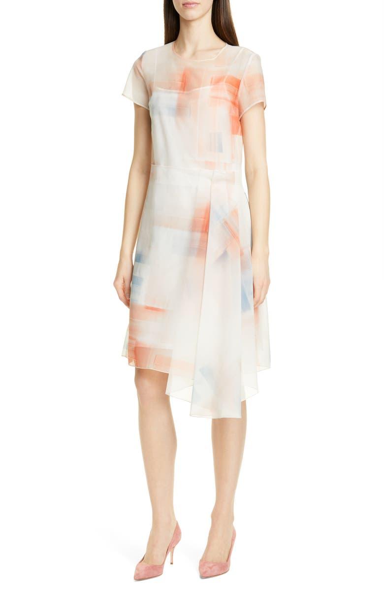 BOSS Difuna Asymmetrical Party Dress, Main, color, 100