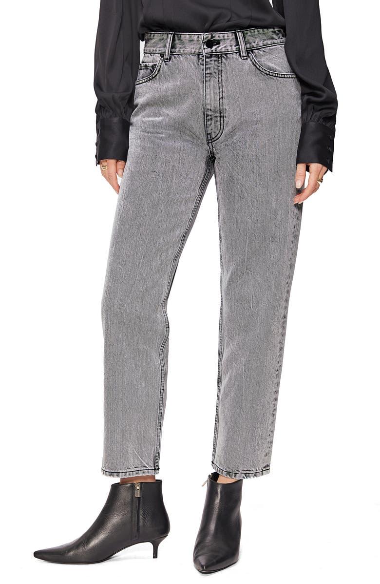 ANINE BING Etta Straight Leg Jeans, Main, color, ACID GREY