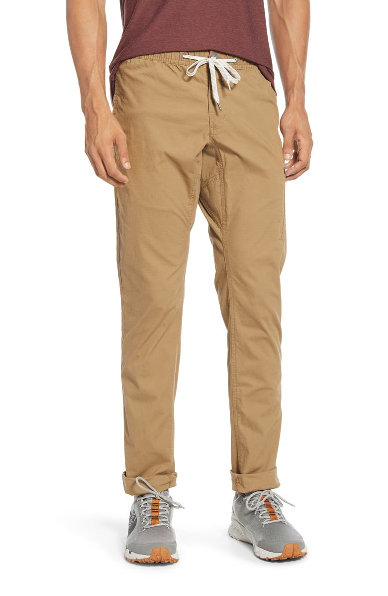 VUORI Ripstop Slim Fit Climber Pants, Main, color, KHAKI