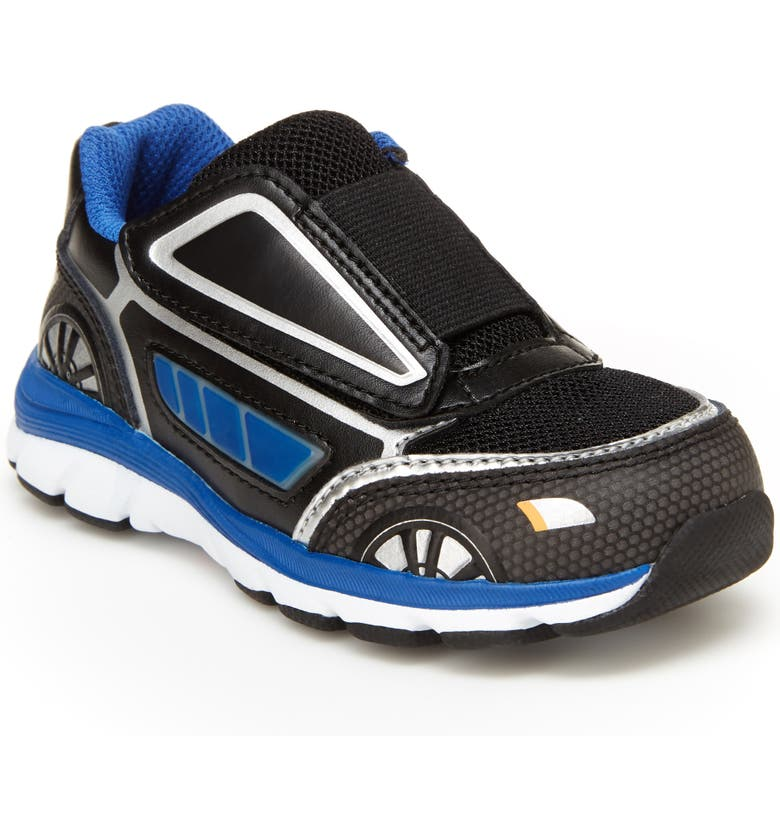 STRIDE RITE Vroomz Light-Up Car Sneaker, Main, color, BLACK/ BLUE