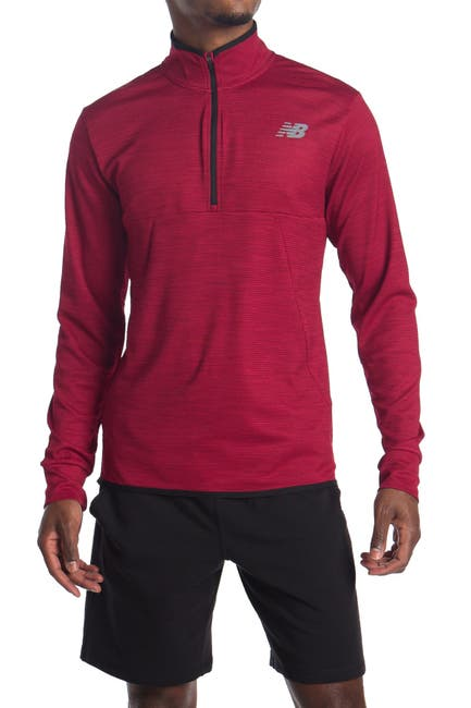 Image of New Balance Tenacity Quarter Zip Sweater