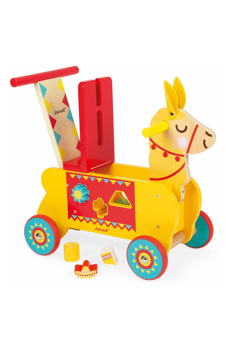 JANOD Llama Ride-On Toy, Main, color, YELLOW